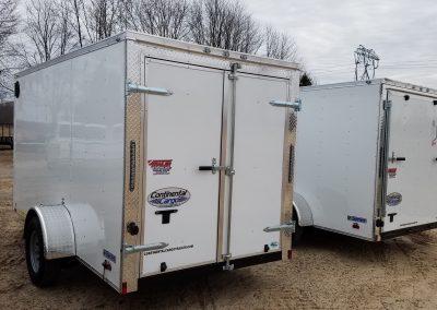 6x12 Enclosed, Rear Swing Doors