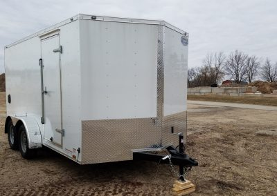 7x14 Dual Axel Enclosed Trailer
