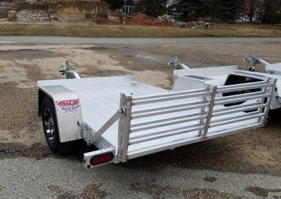 Aluminum Rear Ramp Utility Trailer