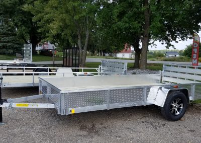 Rance Aluminum 6.5x14 With ATP Sides and Bi-Fold Ramp and Aluminum Rim upgrade