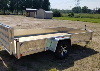 Rance Aluminum Utility 6.5x12 with ATP sides,Bi-Fold Ramp and Aluminum Rims also available in 6.5x14