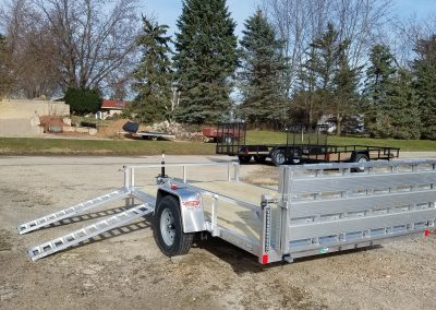 Rance Aluminum Utility 6.5x12 with ATV Package and Bi-Fold Ramp *also 6.5x14 available