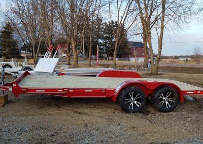 Heartland 82x18 Car Hauler Red with Aluminum Rims 7000lb GVWR