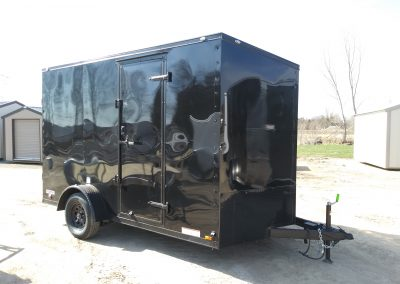 Continental Cargo Enclosed 7x12 Blackout Edition with UTV Package