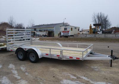7x16 TA Aluminum Utility Heavy Duty Ramp