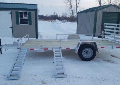 7x14 SA Aluminum with ATV Package & Bi-Fold Ramp