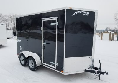 Homesteader 7x12 TA with 1' extra Height, Rear Ramp
