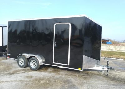 """Continental Cargo Aluminum 7x16 TA Enclosed with Extra 1"""" Height"""