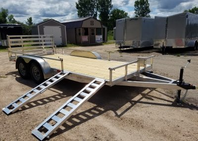 Mid Michigan Trailer 82x16 TA Aluminum with ATP Sides and Bi-Fold Ramp *Also available 82x14